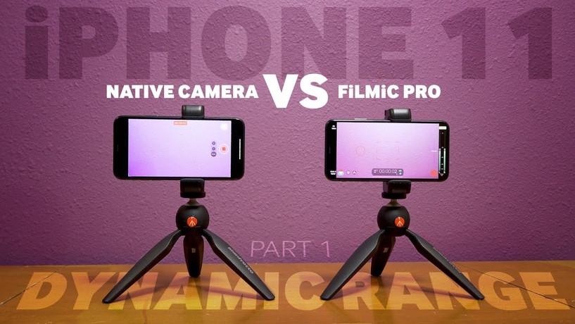 iPhone Native Camera VS FiLMiC Pro