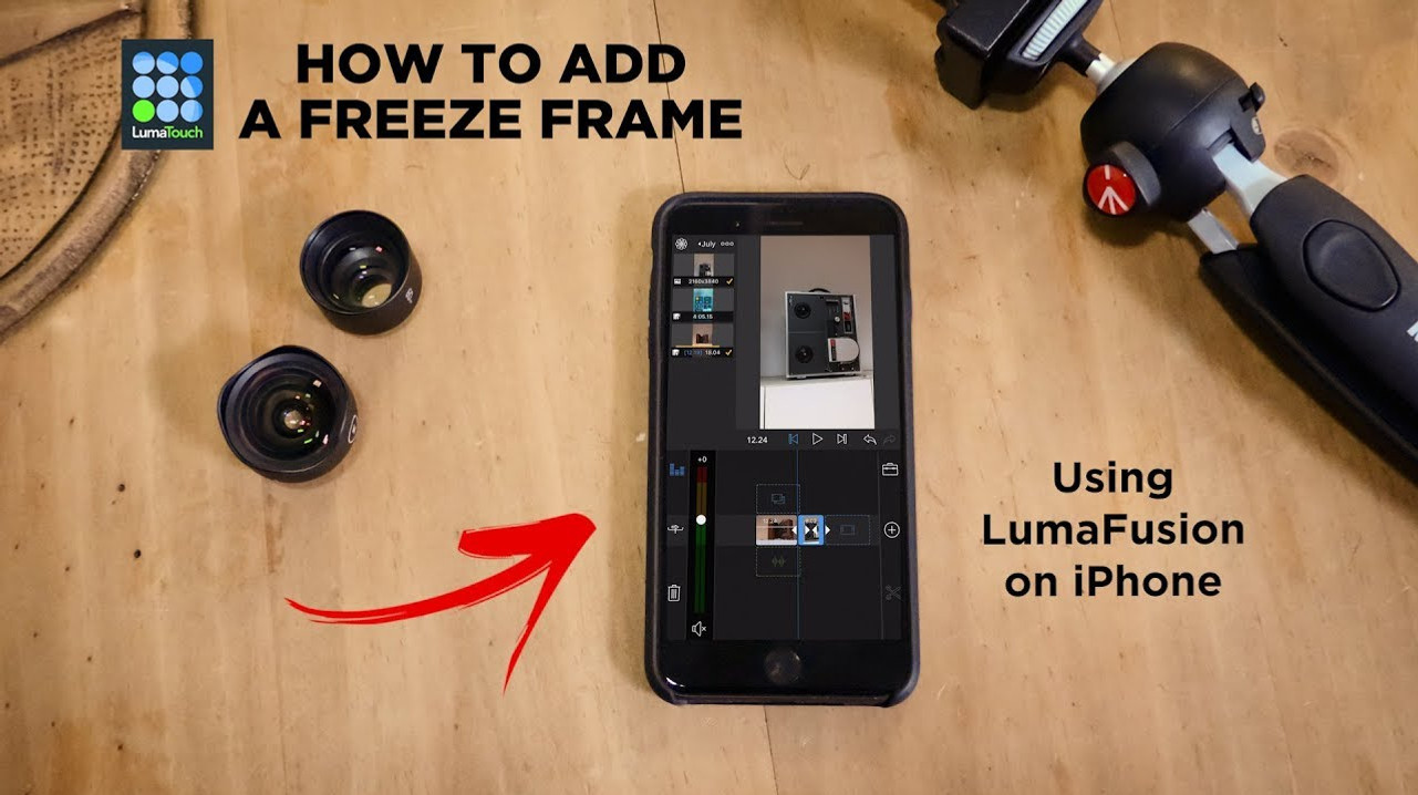How To Add A Freeze Frame in LumaFusion