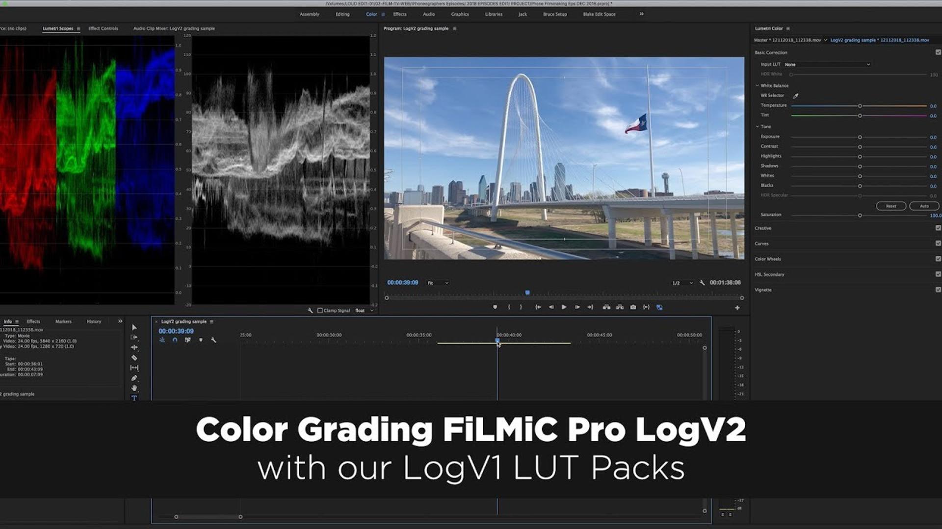 Color GradingFiLMiC Pro LogV2