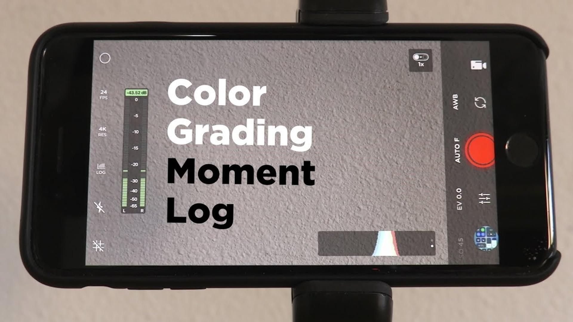Color Grading Moment Log Footage