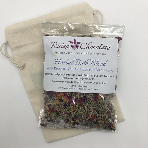 Herbal Bath Blend and Pouch