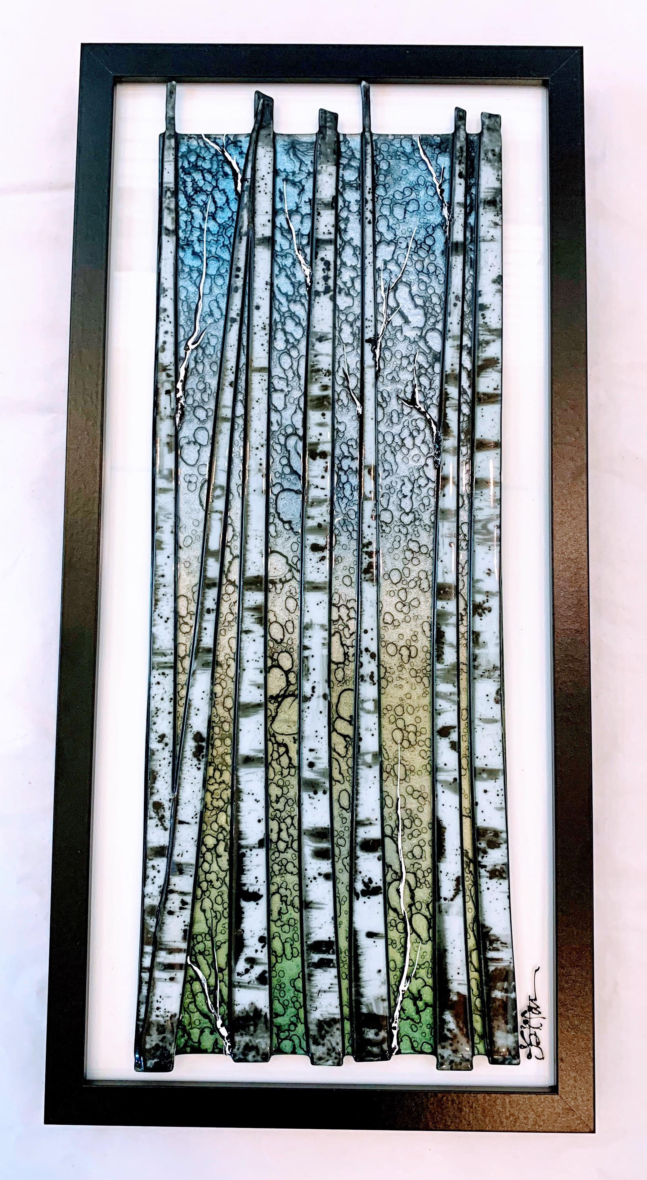 Birch Trees Sunrise