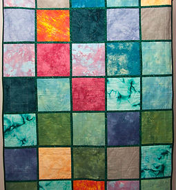 Colorful block quilt patten