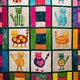 Quilt with cute animal squares