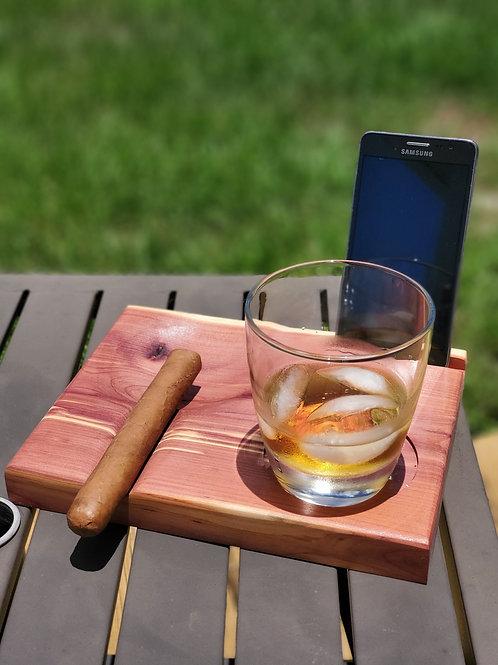 Cigar and Spirits Caddy | Cigar Ashtray | Gifts for Him