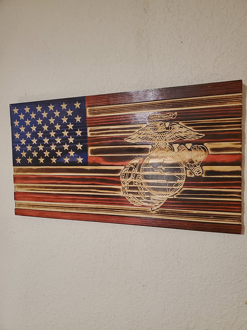 U.S. Marine Corps Flag Globe and Anchor Logo