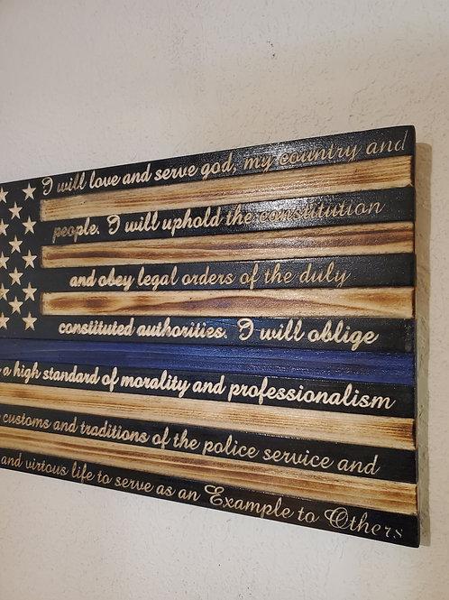 Police Officer Pledge Flag