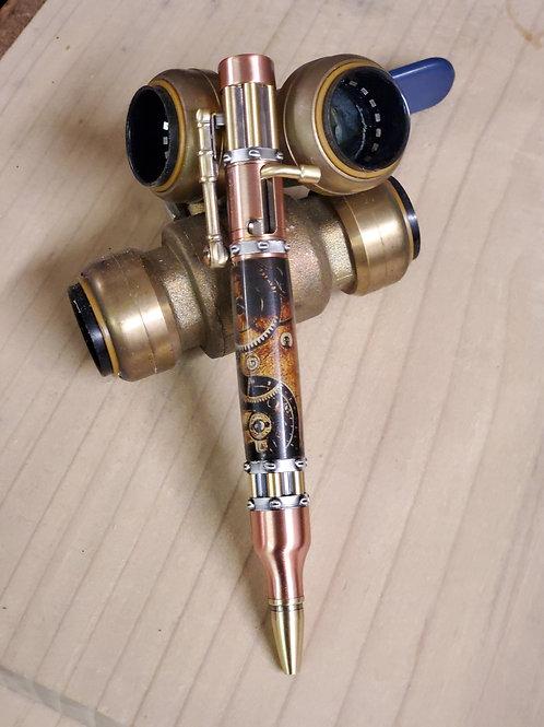 Steam Punk Copper and Brass Bolt Action Gatling Gun