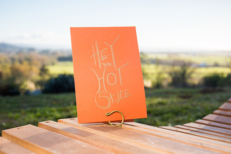 Hey There Hot Sauce Greeting Card