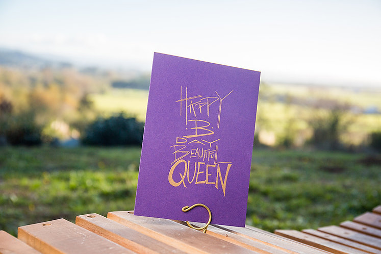 Happy Birthday Beautiful Queen Greeting Card