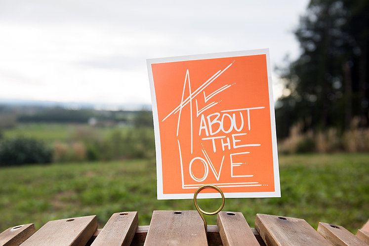 All About The Love Large Box Sticker