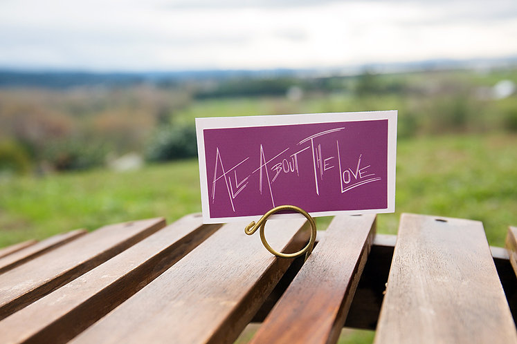 All About The Love Small Rectangle Sticker