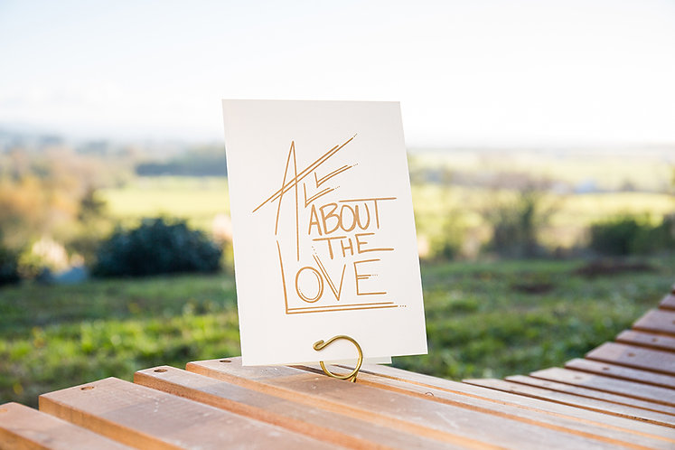 All About The Love Greeting Card