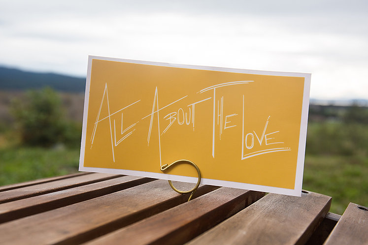 All About The Love Large Rectangle Sticker