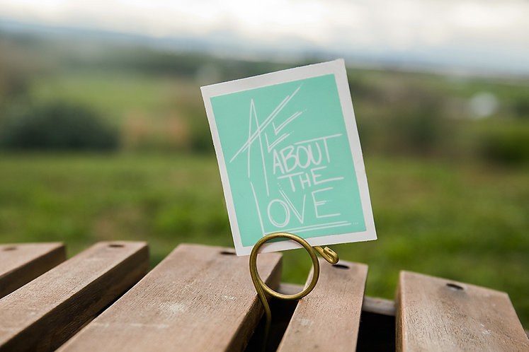 All About The Love Small Box Sticker