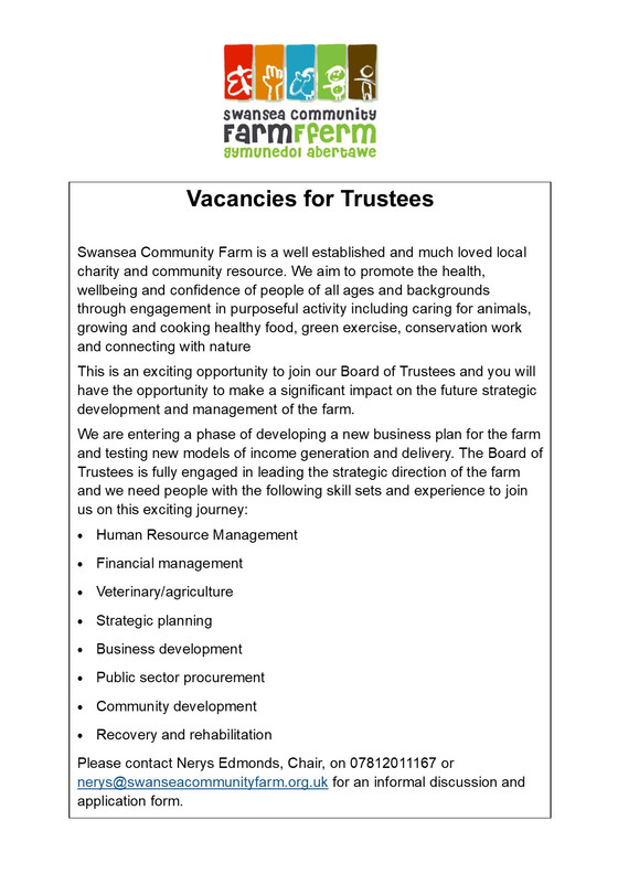 Join us as a trustee!
