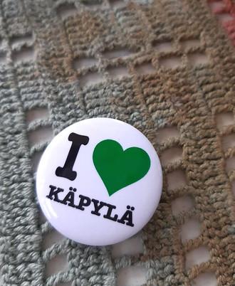 I love Käpylä -pinssi