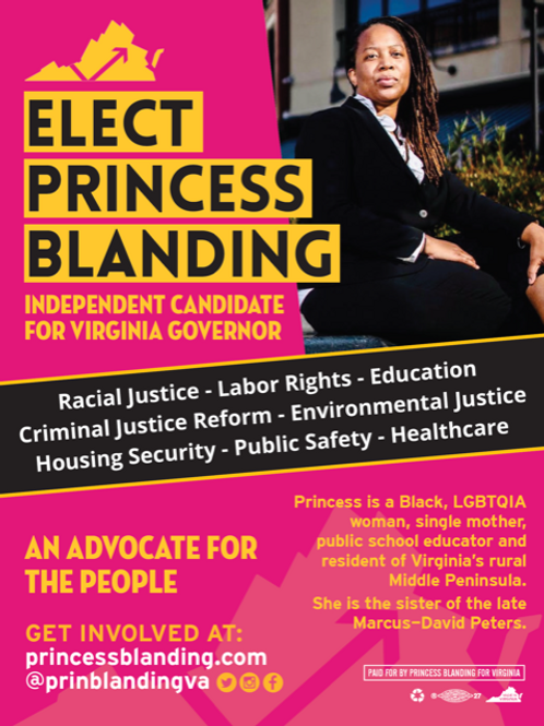 Princess Blanding for Virginia Poster