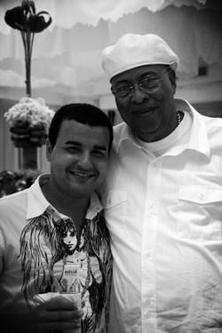 Con el pianista Chucho Valdés
