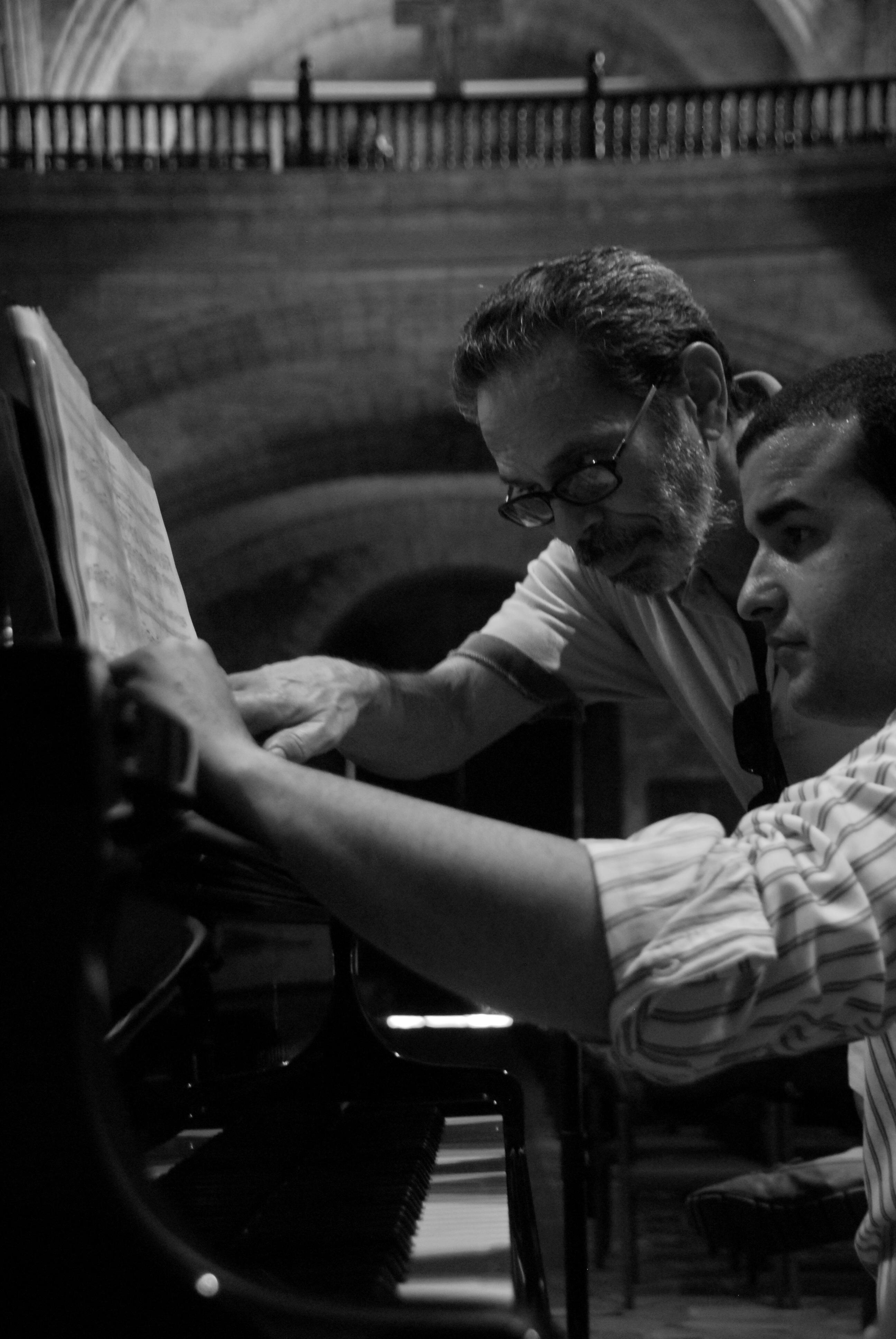 Con el compositor Leo Brouwer
