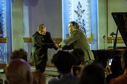 Con el compositor Marvin Camacho