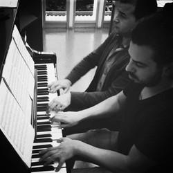 Con el compositor Julián de la Chica