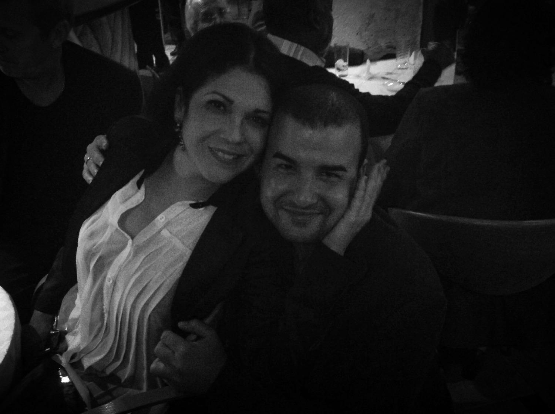 Con la cantante Ivette Cepeda