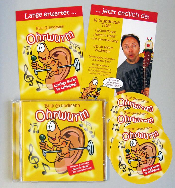 CD-Ausstattung und Promotionmaterial