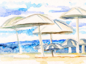 Free Range Thinking leads to Umbrellas by the Sea