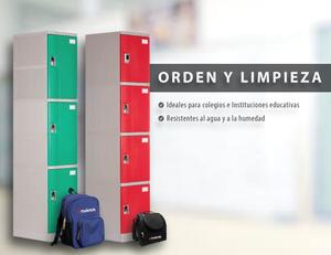 Orden y Limpieza. Lockers Maletek Perú