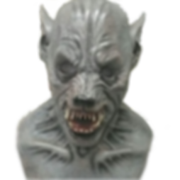 Silicone Werewolf Mask After Repair