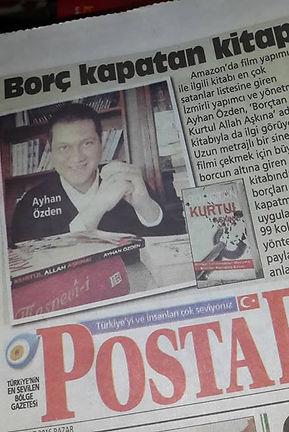"""""""Posta Gazetesi Kitabıma """"Borç Kapatan Kitap"""" Diyor"""""""