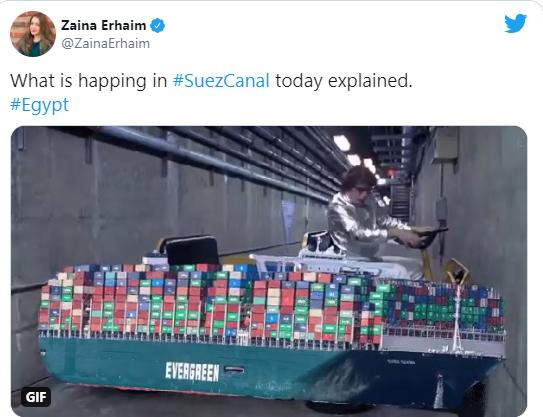 Meme about SuezCanal ship being stuck