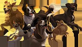Original 6 Playable Dogs