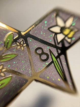 Dice Unfolded Enamel Pin d8