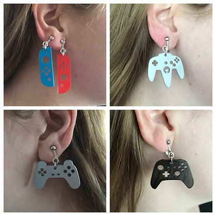 Acrylic Game Controller Earrings, Charms, Keychains