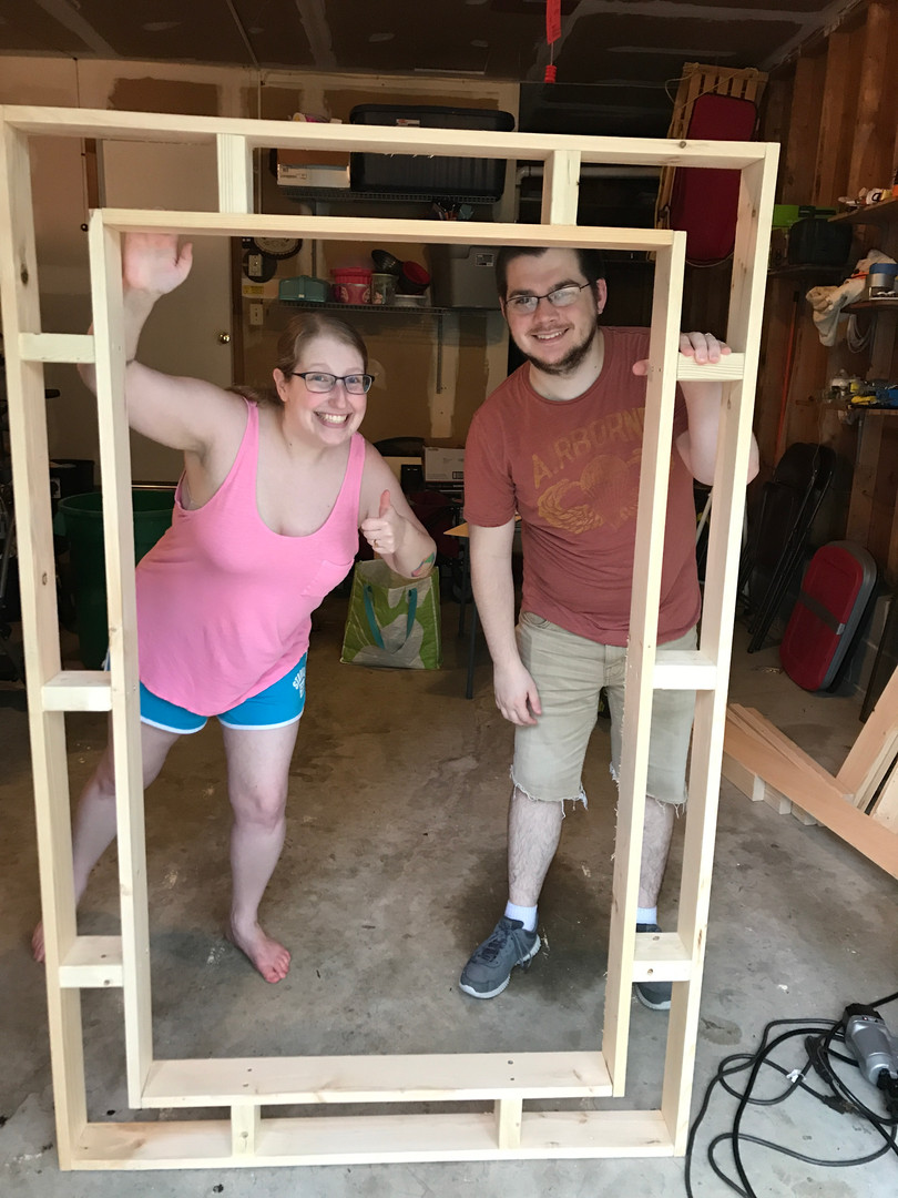 Arielle and Casey proudly display their table frame!