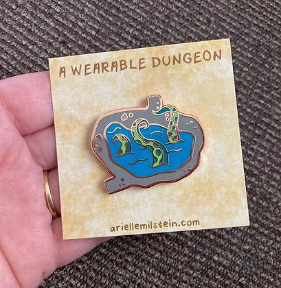 A Wearable Dungeon Hard Enamel Pin (single pin)