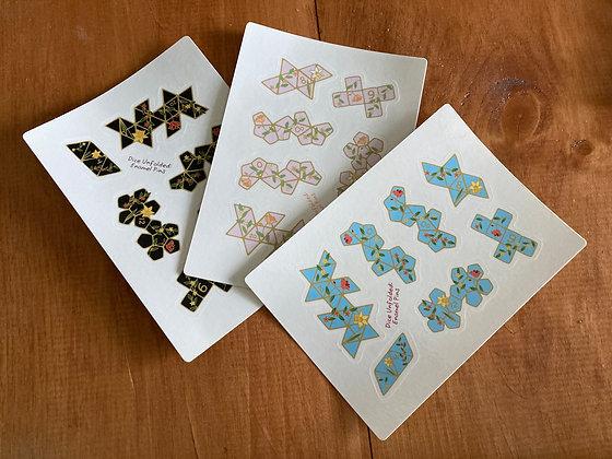 Dice Unfolded Sticker Sheets