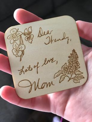 Mom's Handwriting Magnet
