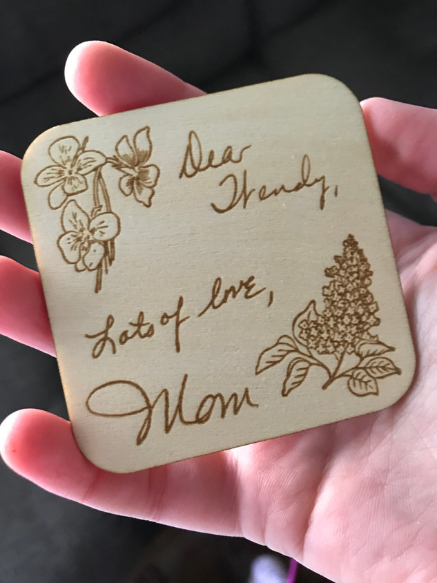 Mom's Handwriting Magnet