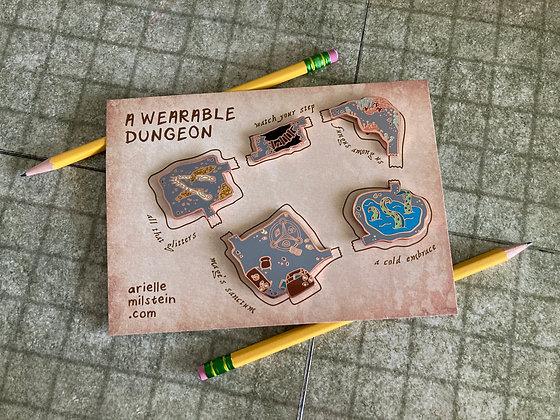 A Wearable Dungeon Hard Enamel Pins (full set)