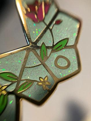 Dice Unfolded Enamel Pin d10