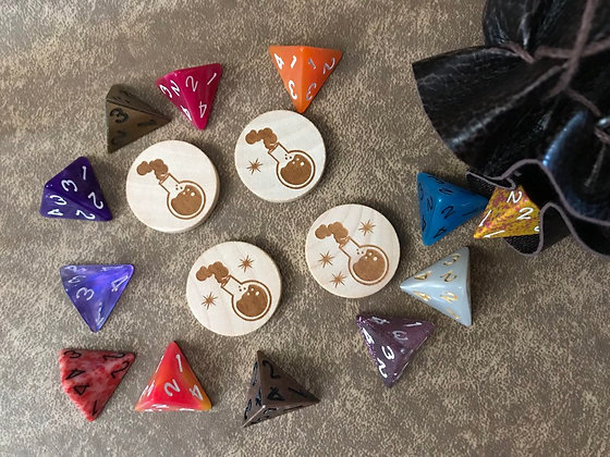 Wooden Potion Tokens