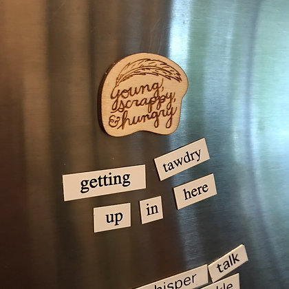 Young Scrappy & Hungry Hamilton Inspired Magnet