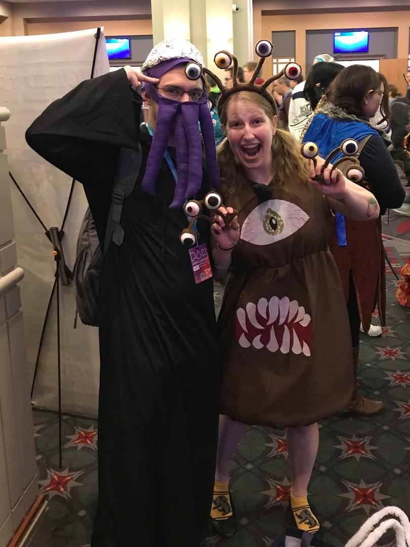 Arielle and Casey are a beholder and a mindflayer!