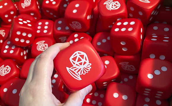 Red Dice Flower Squishy Stress Ball d6