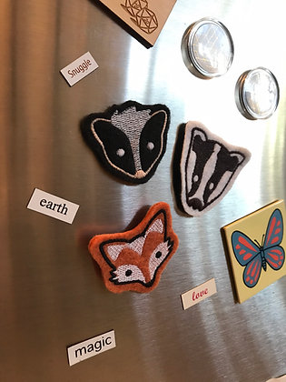 Cute Felt Embroidered Woodland Creature Magnets