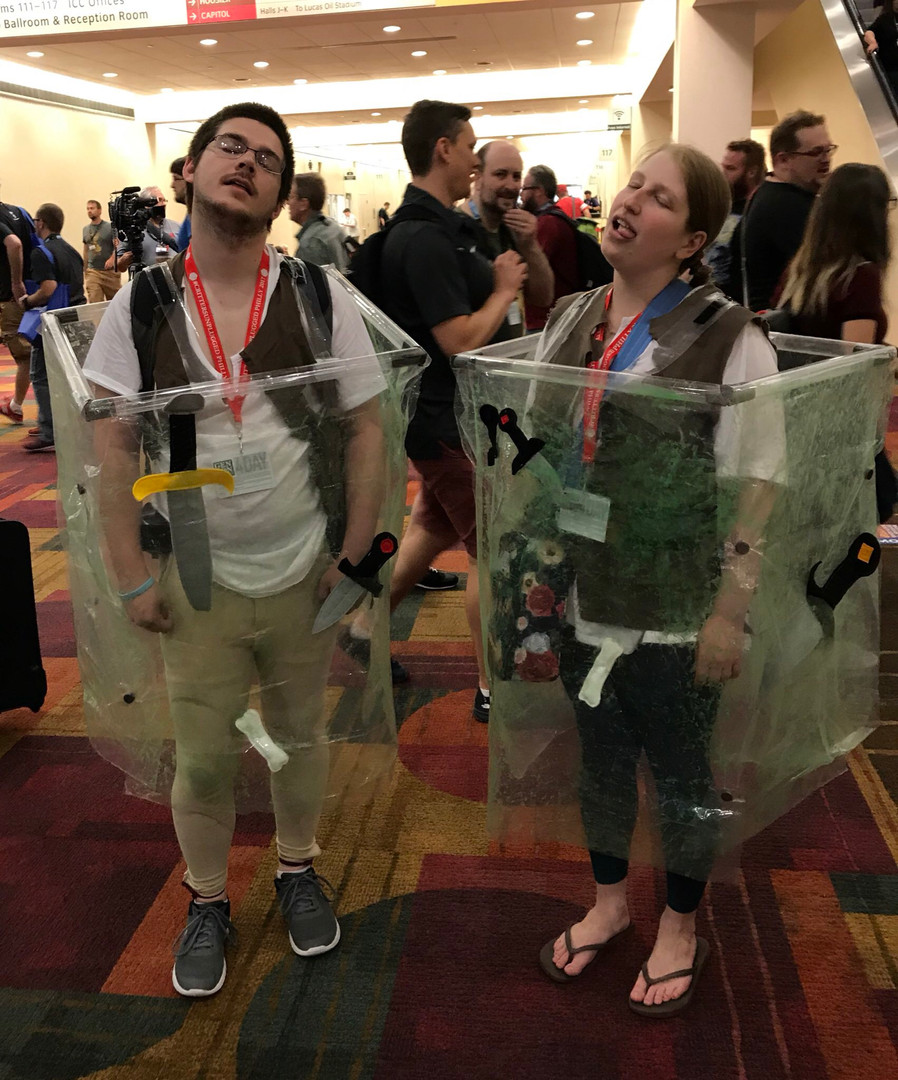 Arielle and Casey are gelatinous cubes!