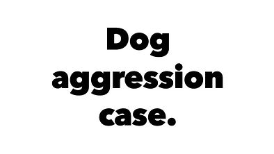 undersocialized Shepherd, dog aggression